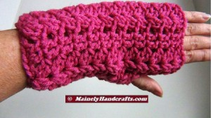 Fingerless Gloves - Light Raspberry Wrist Warmers - Crocheted Lace Fingerless Gloves - Pink Purple Handwear 2