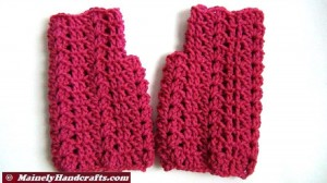 Fingerless Gloves - Light Raspberry Wrist Warmers - Crocheted Lace Fingerless Gloves - Pink Purple Handwear