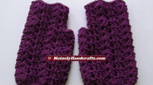 Purple Fingerless Gloves - Wrist Warmers - Grape Fingerless Mitts 3