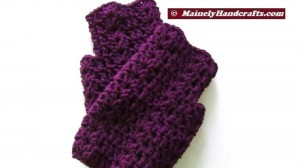 Purple Fingerless Gloves - Wrist Warmers - Grape Fingerless Mitts 4