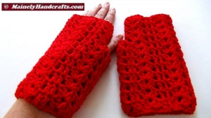 Vibrant Red Fingerless Gloves - Texting Gloves - Hobo Mittens - Red Wristwarmers 2