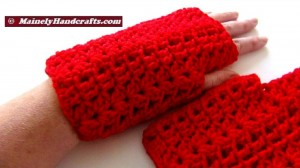 Vibrant Red Fingerless Gloves - Texting Gloves - Hobo Mittens - Red Wristwarmers 3