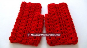 Vibrant Red Fingerless Gloves - Texting Gloves - Hobo Mittens - Red Wristwarmers