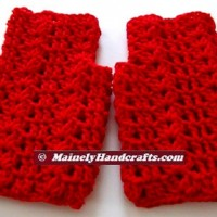 Vibrant Red Fingerless Gloves - Texting Gloves - Hobo Mittens - Red Wristwarmers THUMB